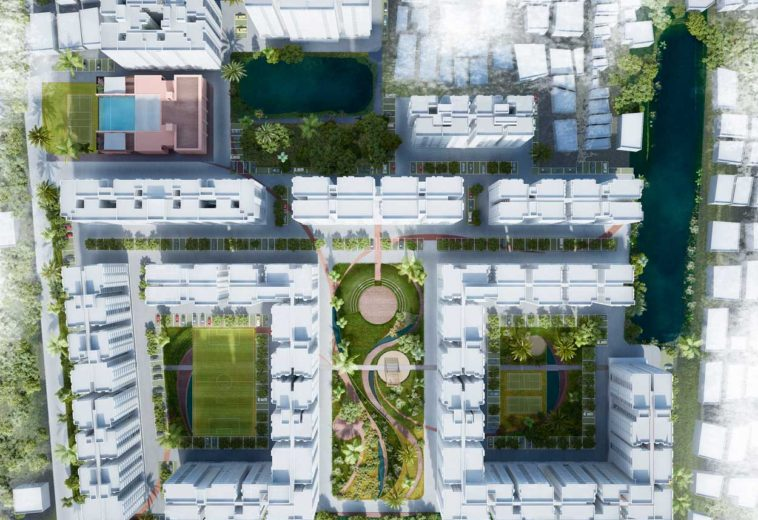 Integrate massive constructions with city's social fabric